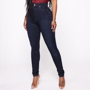 Fashion Nova Dark Wash High Waist Jeans